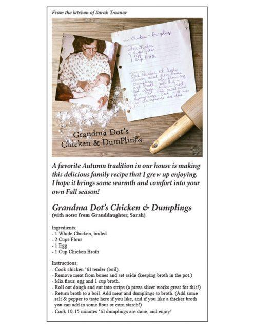 Dot's Chicken and Dumplings